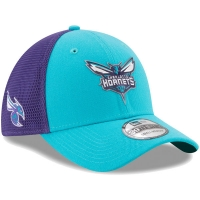 Charlotte Hornets nba new era flex-fit on-court спортивная бейсболка голубая