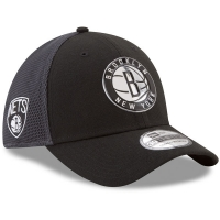 Brooklyn Nets nba new era flex-fit on-court спортивная бейсболка черная