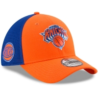 New York Knicks nba new era flex-fit on-court спортивная бейсболка оранжевая