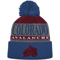 Colorado Avalanche nhl adidas heathered хоккейная шапка с помпоном синяя