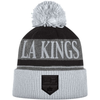 Los Angeles Kings nhl adidas heathered хоккейная шапка с помпоном черная