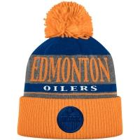 Edmonton Oilers nhl adidas хоккейная шапка с помпоном оранжевая