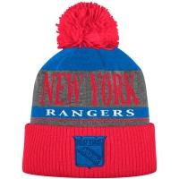 New York Rangers nhl adidas хоккейная шапка с помпоном красная