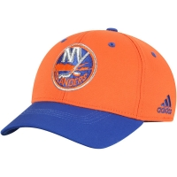 New York Islanders nhl adidas flex-fit хоккейная бейсболка сине-оранжевая