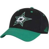 Dallas Stars nhl adidas flex-fit centennial хоккейная бейсболка черно-зеленая