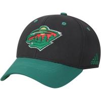 Minnesota Wild nhl adidas flex-fit хоккейная бейсболка зелено-черная