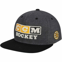 Boston Bruins nhl ccm hockey front snapback хоккейная кепка