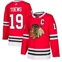 Jonathan Toews Chicago Blackhawks nhl adidas authentic хоккейный свитер красный