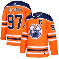 Edmonton Oilers Connor McDavid nhl adidas authentic хоккейный свитер оранжевый