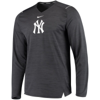 New York Yankees mlb nike dri-fit performance бейсбольная лонгслив футболка