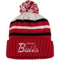 Chicago Bulls nba mitchell & ness script зимняя шапка с помпоном