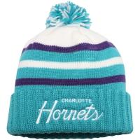 Charlotte Hornets nba mitchell & ness script зимняя шапка с помпоном