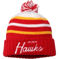 Atlanta Hawks nba mitchell & ness script зимняя шапка с помпоном