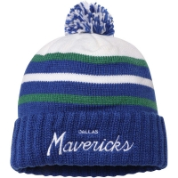 Dallas Mavericks nba mitchell & ness script зимняя шапка с помпоном