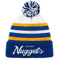 Denver Nuggets nba mitchell & ness script зимняя шапка с помпоном