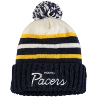 Indiana Pacers nba mitchell & ness script зимняя шапка с помпоном