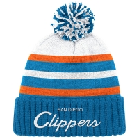 San Diego Clippers nba mitchell & ness historic 78-84 зимняя шапка с помпоном