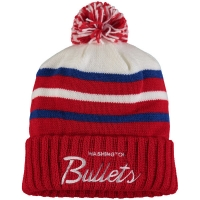 Washington Bullets nba mitchell & ness historic 74-97 зимняя шапка с помпоном