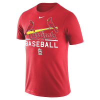 St Louis Cardinals mlb nike practice performance бейсбольная футболка