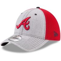 Atlanta Braves mlb new era flex neo спортивная бейсболка серая