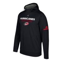 Carolina Hurricanes nhl adidas authentic хоккейная толстовка с капюшоном черная