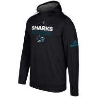 San Jose Sharks nhl adidas authentic хоккейная толстовка с капюшоном