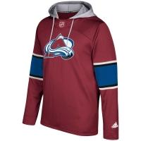 Colorado Avalanche nhl adidas хоккейная толстовка с капюшоном бордовая