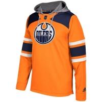 Edmonton Oilers nhl adidas хоккейная толстовка с капюшоном