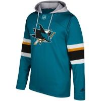 San Jose Sharks nhl adidas хоккейная толстовка с капюшоном