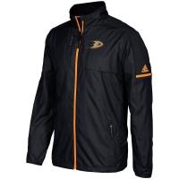 Anaheim Ducks nhl adidas authentic хоккейная легкая куртка ветровка черная