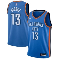 Paul George Oklahoma City Thunder nba nike джерси баскетбольная майка синяя