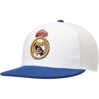Real Madrid CF fitted футбольная кепка с прямым козырьком белая