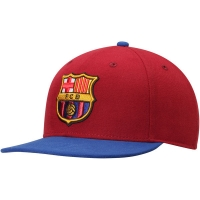 Barcelona FC snapback футбольная кепка с прямым козырьком бордовая