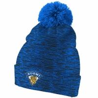 Finland Hockey nike iihf olympic хоккейная шапка с помпоном синяя