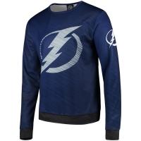 Tampa Bay Lightning nhl fanatics printed sweatshirt хоккейная спортивная кофта синяя