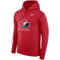 Canada hockey iihf nike therma хоккейная толстовка с капюшоном красная