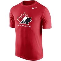 Canada hockey iihf nike dri-fit хоккейная футболка красная