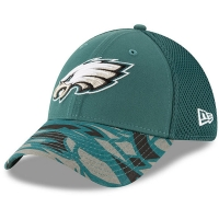 Philadelphia Eagles nfl new era flex спортивная бейсболка зеленая