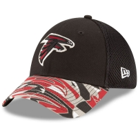 Atlanta Falcons nfl new era flex спортивная бейсболка черная