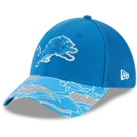 Detroit Lions nfl new era flex спортивная бейсболка голубая