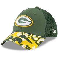 Green Bay Packers nfl new era flex спортивная бейсболка зеленая