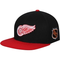 Detroit Red Wings nhl american needle snapback хоккейная кепка черная