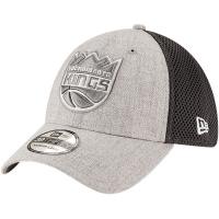 Sacramento Kings nba new era flex-fit on-court спортивная бейсболка серая