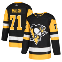 Хоккейный свитер Evgeni Malkin Pittsburgh Penguins nhl adidas authentic черный