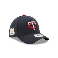 Minnesota Twins mlb new era flex postseason спортивная бейсболка темно-синяя