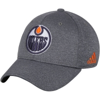Edmonton Oilers nhl adidas flex-fit хоккейная бейсболка серая