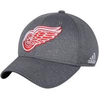 Detroit Red Wings nhl adidas flex-fit хоккейная бейсболка серая