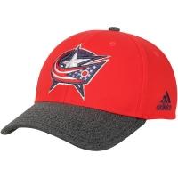 Columbus Blue Jackets nhl adidas performance хоккейная бейсболка красная
