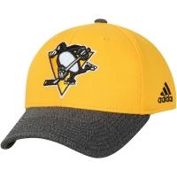 Pittsburgh Penguins nhl adidas performance хоккейная бейсболка желтая