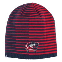 Columbus Blue Jackets nhl adidas pattern хоккейная шапка сине-красная